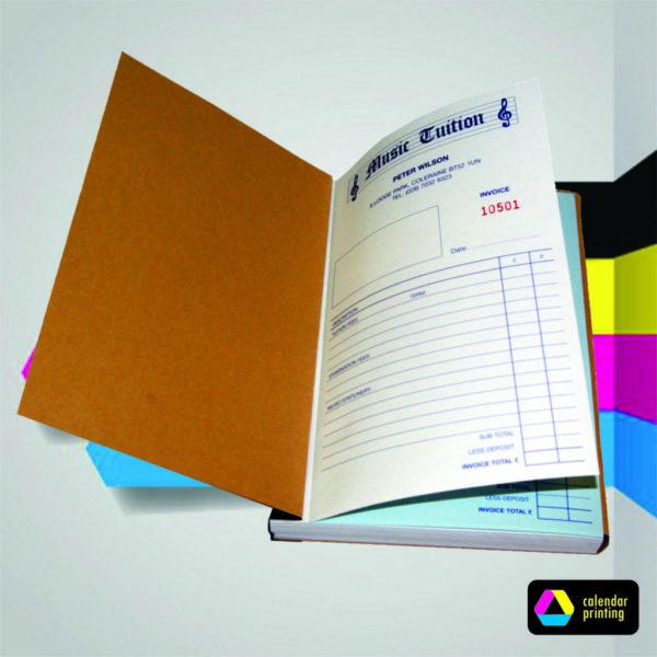 A5 - A4 Invoice Books - calendar printing