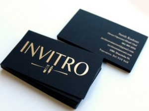Foil business card finish